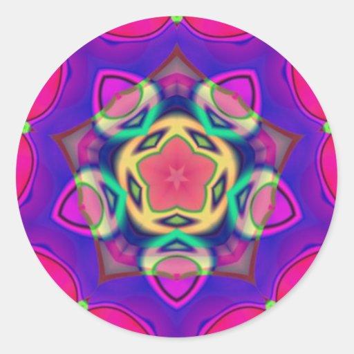 Pegatina sagrado del fractal de la geometría de la