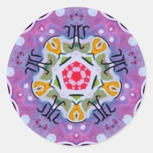 Pegatina sagrado del fractal del zodiaco de la