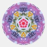 Pegatina sagrado del fractal del zodiaco de la geo