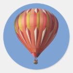 Pegatina salvaje del globo del aire caliente de la