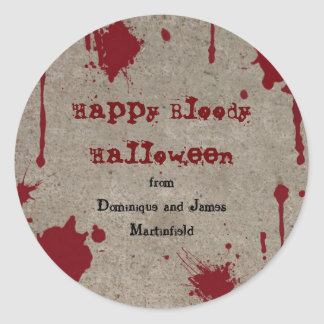 Pegatina sangriento de Halloween