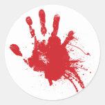 Pegatina sangriento de Handprint