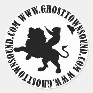 Pegatina sano del pueblo fantasma B&W
