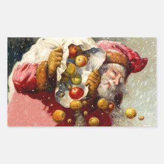 Pegatina Santa antiguo en manzanas de la fruta del