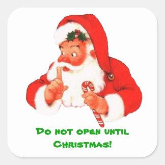 Pegatina secreto del navidad de Santa