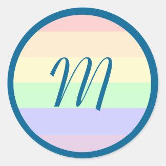 Pegatina/sello de la igualdad con inicial pegatina redonda