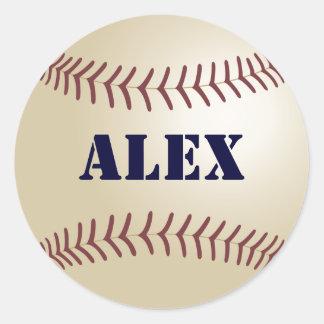 Pegatina/sello del béisbol de Alex Pegatina Redonda
