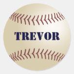 Pegatina/sello del béisbol de Trevor Pegatina Redonda