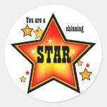 Pegatina Shinning del premio de la estrella