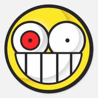 Pegatina sicopático sonriente