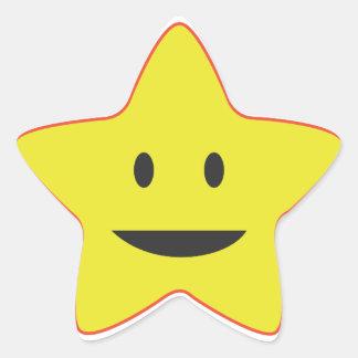 Pegatina sonriente amarillo del profesor de la