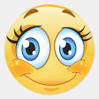 Pegatina sonriente de la cara