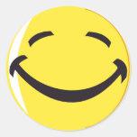 ¡Pegatina sonriente de la cara!