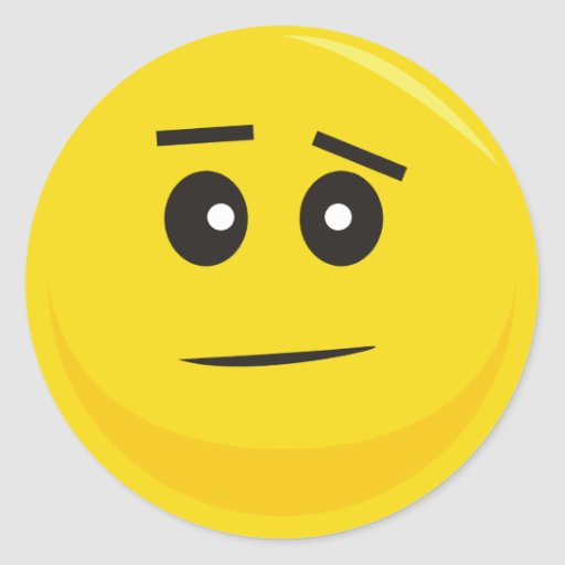 Pegatina sonriente de la cara (confundido)