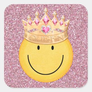 Pegatina sonriente de la cara de la reina - SRF