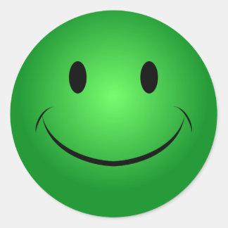 Pegatina sonriente verde