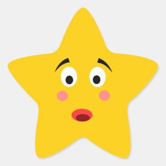 Pegatina sorprendido de la estrella