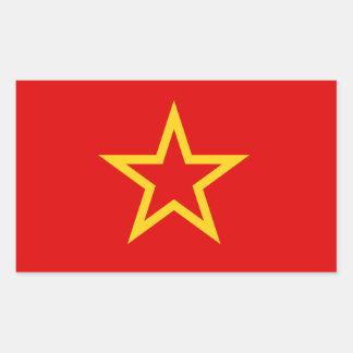 Pegatina soviético de la bandera del ejército rojo