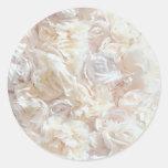 Pegatina suave blanco de la tela del pétalo color