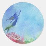 Pegatina subacuático de la sirena