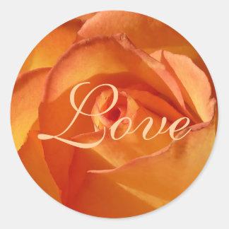 Pegatina subió amor anaranjado