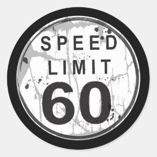 Pegatina sucio del límite de velocidad 60
