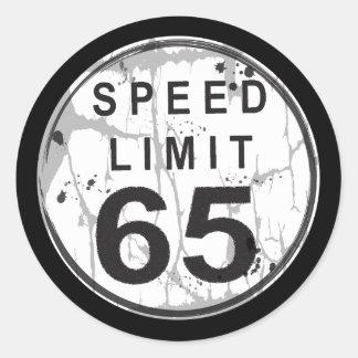 Pegatina sucio del límite de velocidad 65