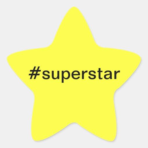 Pegatina #superstar de la estrella
