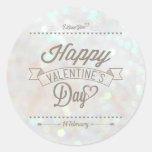 Pegatina sutil blanco del el día de San Valentín