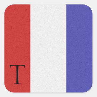 Pegatina T del alfabeto de la bandera de señal