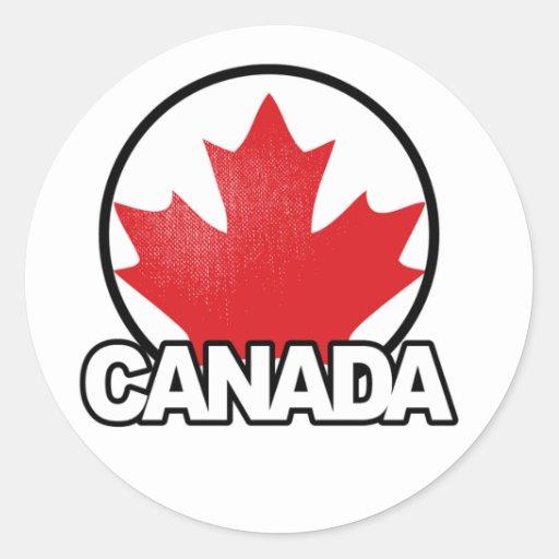 Pegatina tan orgulloso del día de Canadá