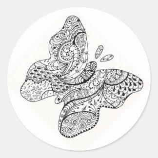 Pegatina tatuado de la mariposa