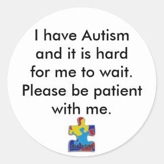 pegatina, tengo Autismand que es hardfor yo… Pegatina Redonda