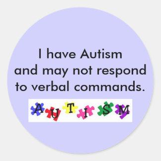 pegatina, tengo autismo y no puedo resp…