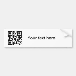 Pegatina texto de encargo pegatina de parachoque