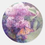 Pegatina texturizado de las lilas