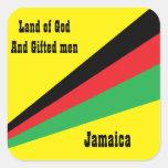 pegatina-tierra de Jamaica de dios y de hombres
