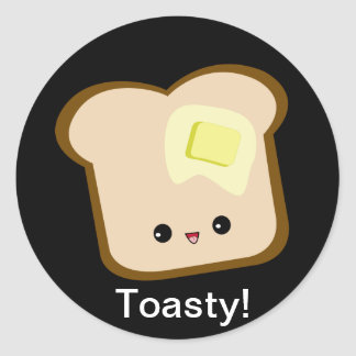 Pegatina toasty de la tostada y de la mantequilla