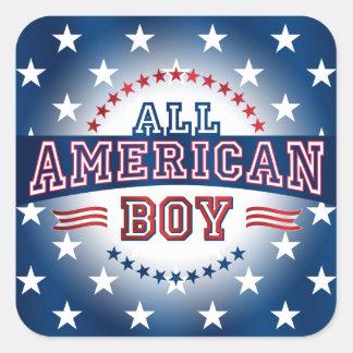 Pegatina Todo-Americano del muchacho