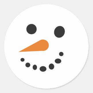 Pegatina tonto del muñeco de nieve