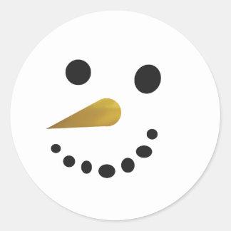 Pegatina tonto del muñeco de nieve/falsa nariz de