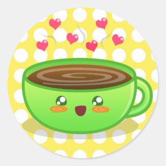 Pegatina tórrido caliente del café