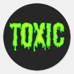 Pegatina tóxico