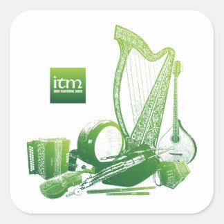 Pegatina tradicional irlandés de la música