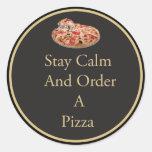 Pegatina tranquilo de la pizza de la estancia