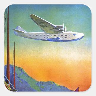 Pegatina transpacífico del transporte aéreo de