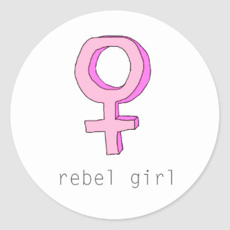 Pegatina transparente de Femme del chica rebelde