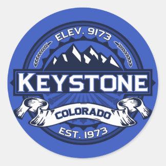 Pegatina trapezoidal del logotipo del color