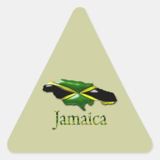 Pegatina Triángulo-Formado verde claro de Jamaica