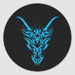 Pegatina tribal azul del dragón